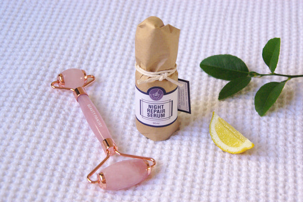 Serum with Rose Quartz Face Roller