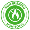 Non-Burning and Non-Toxic