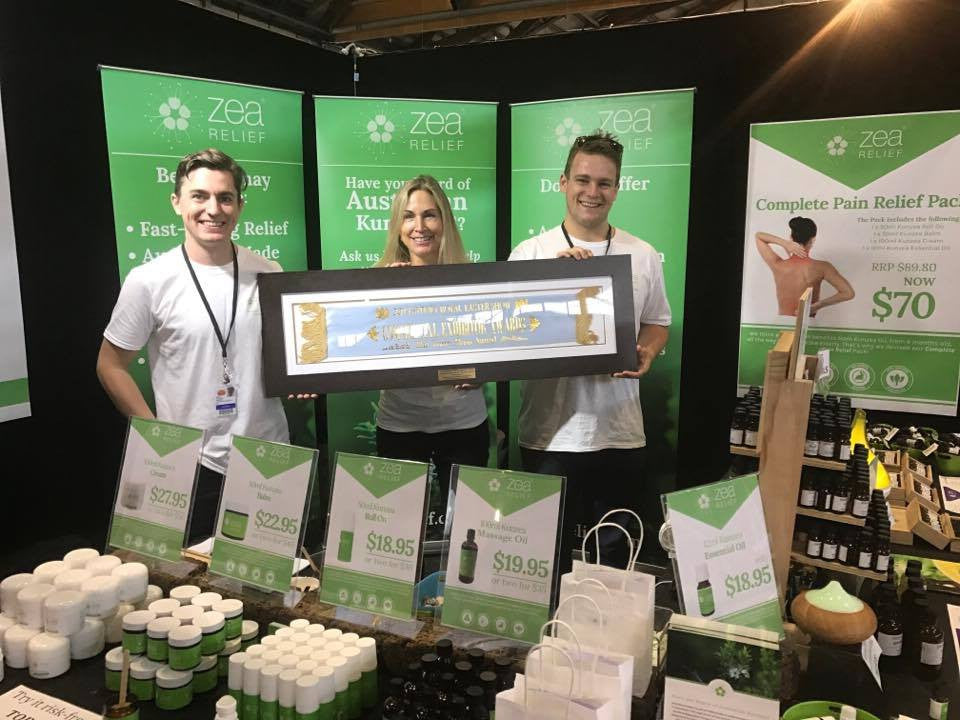The Zea Relief team winning an award at the 2017 Sydney Royal Easter Show