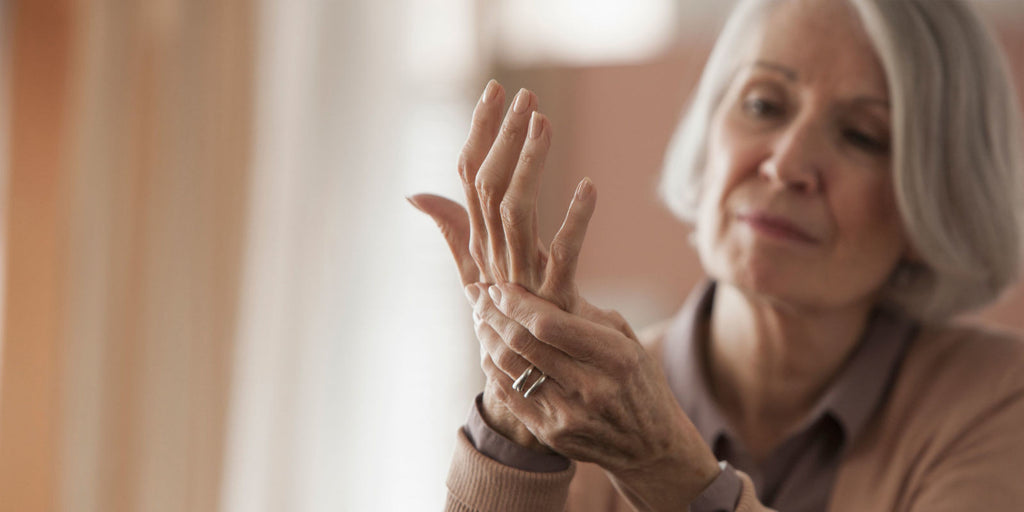 Woman with arthritis in her hand