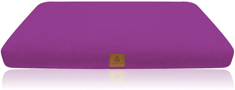 Lilac Buckwheat Filled Meditation Zabuton | Washable Premium Organic Cotton Removable Cover