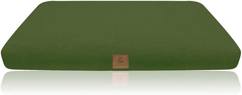 Olive Green Buckwheat Filled Meditation Zabuton | Washable Premium Organic Cotton Removable Cover