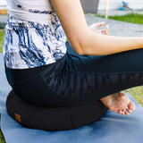 Black Crescent Half Moon Yoga Pillow For Meditation | Release Stress |  Perfect Support