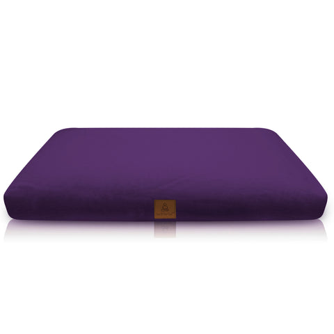 Purple Zabuton Yoga Pillow – Large Square, Zippered Organic Cotton Cover | Machine Washable