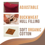 Buckwheat Filled Zabuton Yoga Pillow | Ergonomic Design Relieves Stress for Total Comfort - Red
