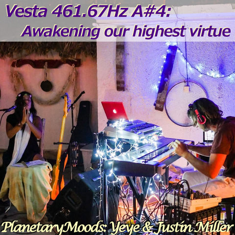 """Awakening your highest virtue"" A Vesta 461.67Hz A#4 Astral Vibration Guided Meditation By Yeye & Justin Miller (20 mins.)"