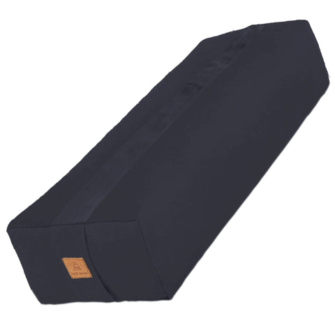 Black Yoga Bolster – Rectangular Buckwheat Filled Cushion | 100% Organic GOTS Cotton