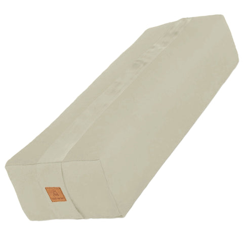Natural Yoga Bolster – Rectangular Buckwheat Filled Cushion | 100% Organic GOTS Cotton
