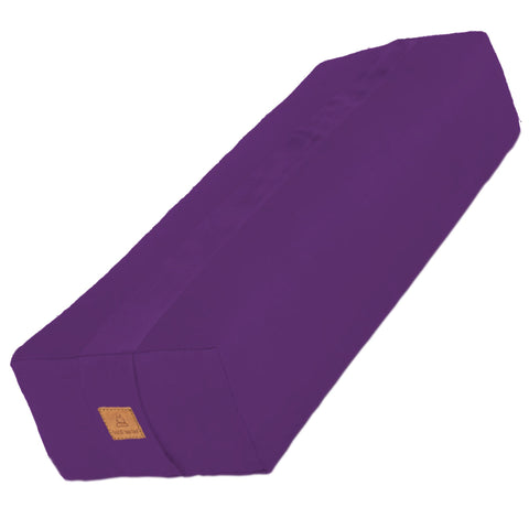 Purple Yoga Bolster – Rectangular Buckwheat Filled Cushion | 100% Organic GOTS Cotton