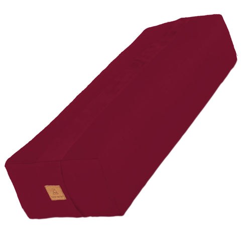 Red Yoga Bolster – Rectangular Buckwheat Filled Cushion | 100% Organic GOTS Cotton