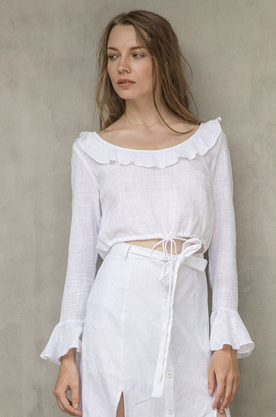 Simone top white women clothing Handmade in Bali