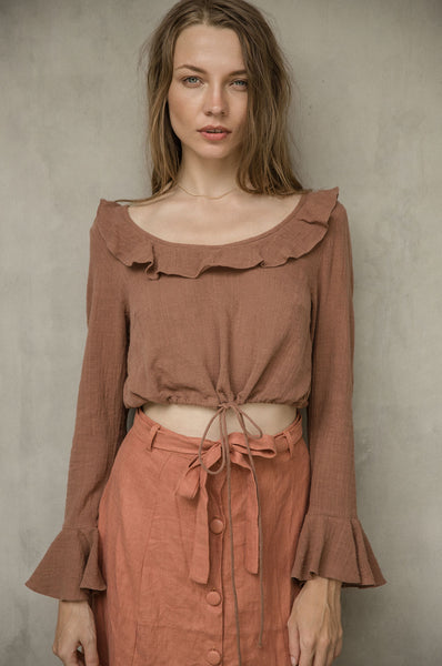 Simone top beaver women clothing Handmade in Bali