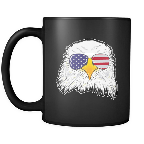 Bald Eagle Black Mug