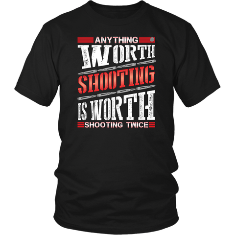 Shooting Twice- Shirts, Long Sleeve, Hoodie, Tanks