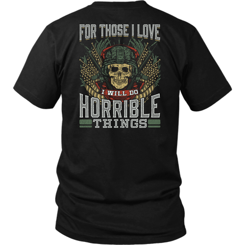 Horrible Things- Shirts, Long Sleeve, Hoodie