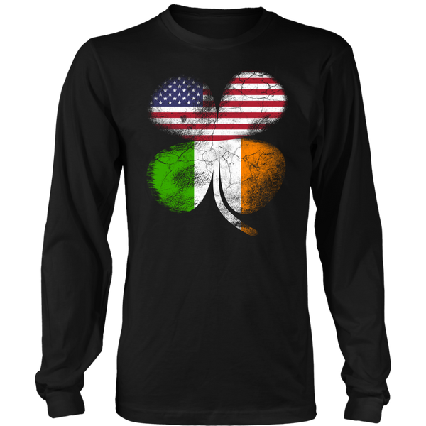 Irish American Flag- Shirts, Long Sleeve, Hoodie, Tanks, Baby Suit