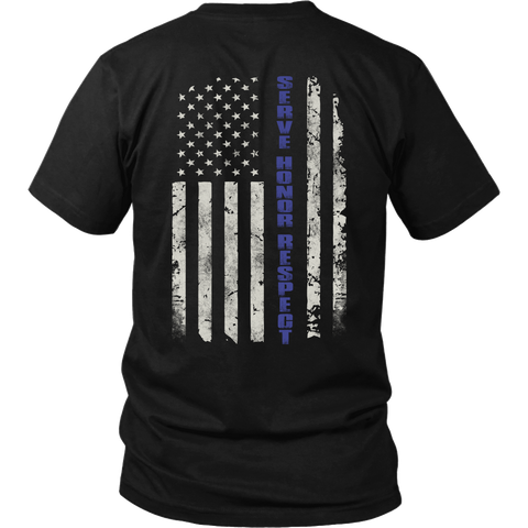 Thin Blue Line- Shirts, Long Sleeve, Hoodie