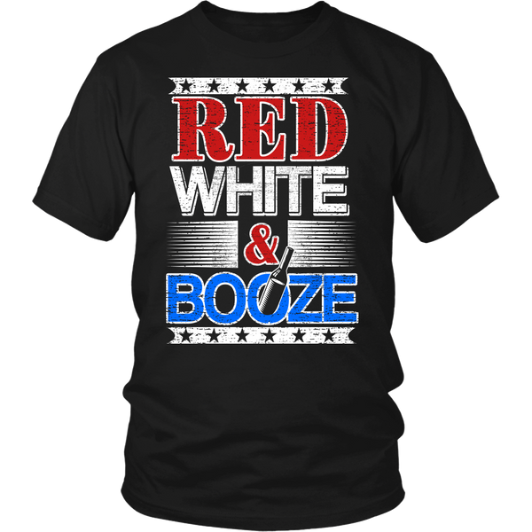 Red White Booze- Shirts, Long Sleeve, Hoodie, Tanks