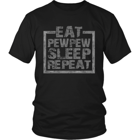 Eat Pew Sleep- Shirts, Long Sleeve, Hoodie, Tanks