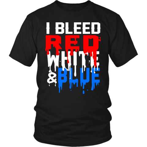 Red White Blue- Shirts, Long Sleeve, Hoodie, Tanks