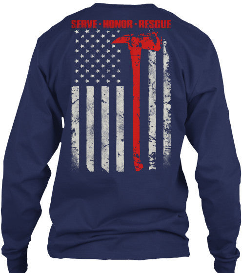 Thin Red Line- Shirts, Long Sleeve, Hoodie