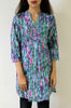 Tunic with Larkspur flowers