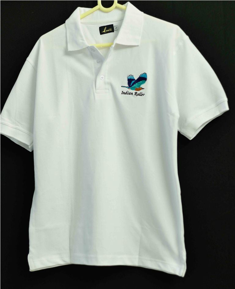 INDIAN ROLLER WHITE T SHIRT