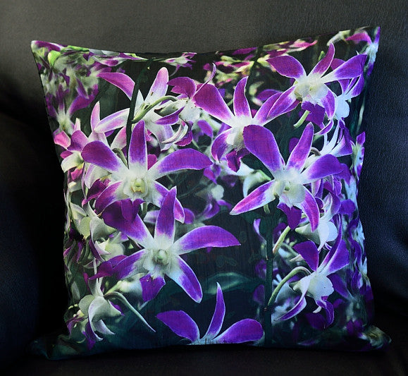 PURPLE ORCHID CUSHION COVERS