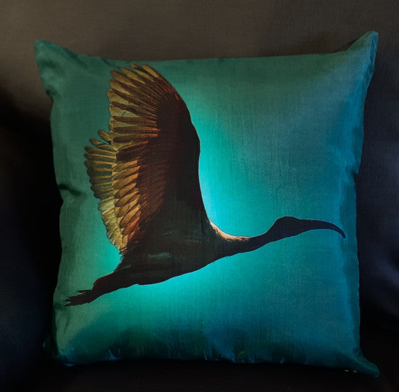 BLUE IBIS BIRD CUSHION COVERS