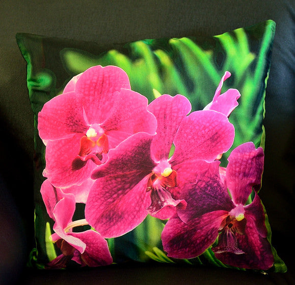 The Large Purple Orchid cushion cover