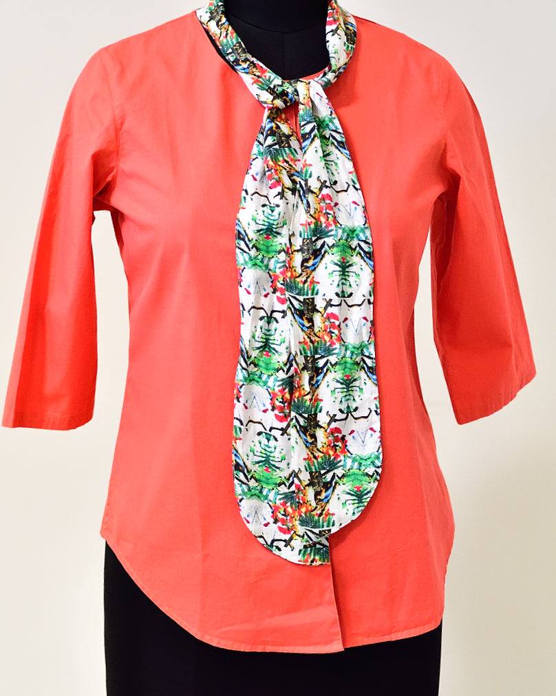 Red Cotton Top with attached bow