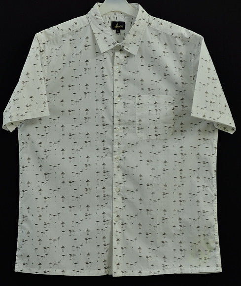 FLAMINGO WHITE SHIRT FOR MEN