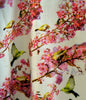 Long top in pure cotton with Cherry Blossom