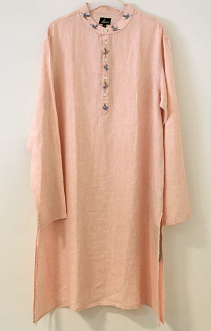 Cream linen Kurta for men