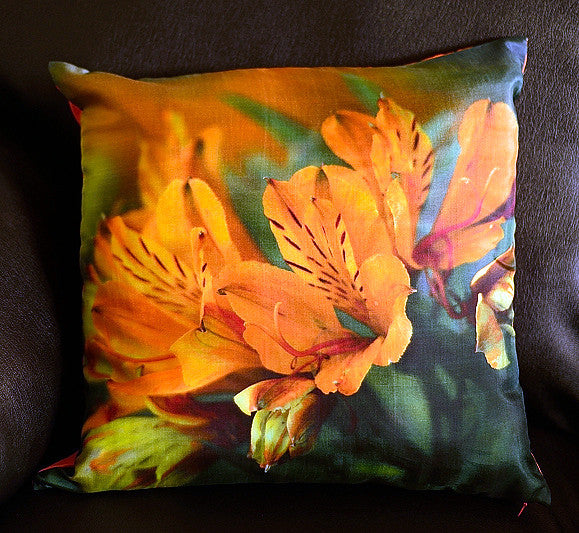 Esther Maria Yellow  Cushion covers (16 in.-40 cm. or 18 in.-45 cm. size cushions)