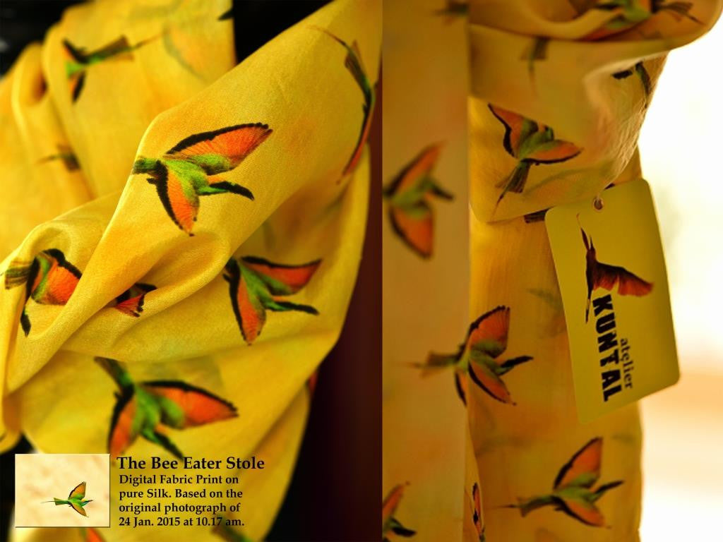 The Bee Eater Stole in silk