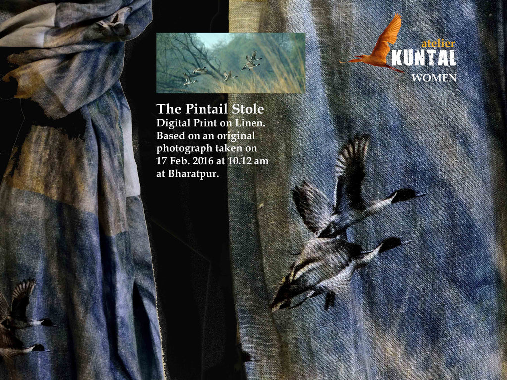 THE PINTAIL LINEN STOLE