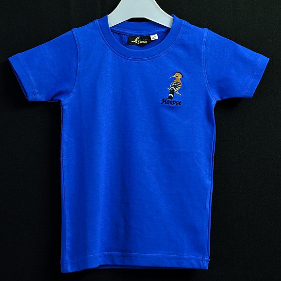 Kids Blue T shirt with Hoopoe Embroidery