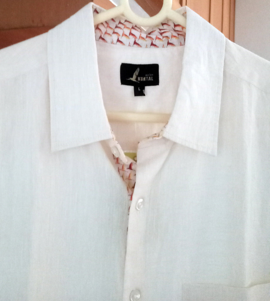 Linen shirt off white with lining