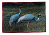 A SARUS CRANE PAIR - TABLE MATS IN PURE COTTON: SET OF 6