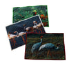 PARAKEET TABLE MATS IN PURE COTTON - SET OF 6