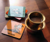 Yoga Series coaster set - The Yoga with morning coffee series