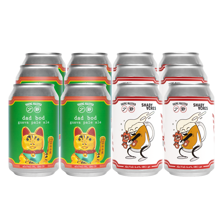 12 Beer Hug/Dad Bod Can Mixed Pack - Young Master Brewery