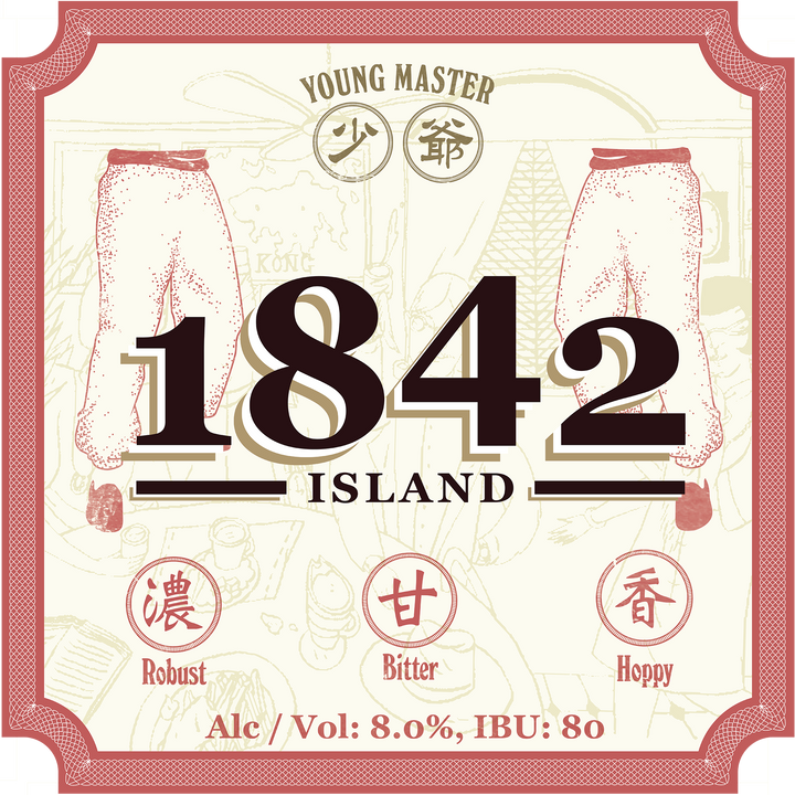 24 1842 Island Imperial IPA 330ml Bottle Case - Young Master Brewery