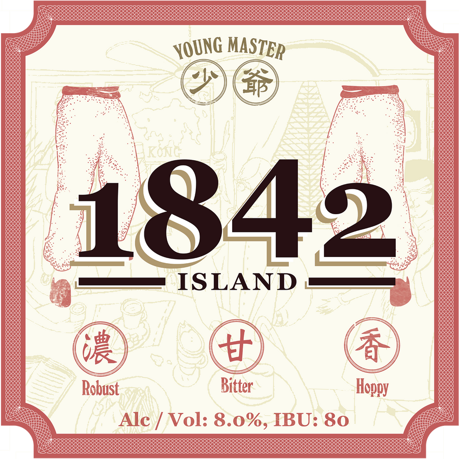 1842 Island IPA 330ml bottle - Young Master Brewery