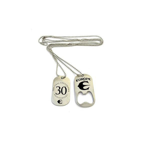 30TH ANNIVERSARY DOG TAG NECKLACE