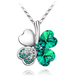 Lucky Green Four Leaf Clover Necklace