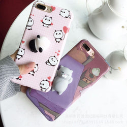 3D CUTE SOFT SILICONE SQUISHY CAT PHONE CASE