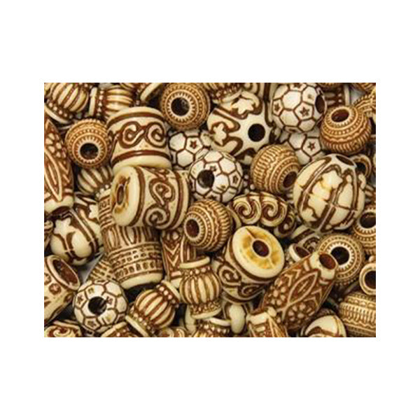 Creativity Street Mixed Bone Assorted Shaped Beads Paperworm