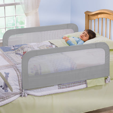 Double Safety Bedrail Grey - OZZIEBARGAINS